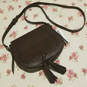 NWT Old Navy  Whipstiched Saddle Bag